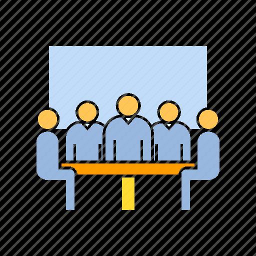 board, corporation, teamwork icon