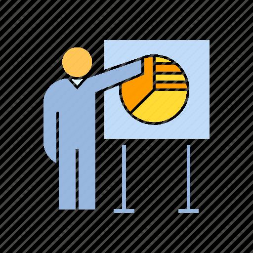 business, market share, marketing, present icon