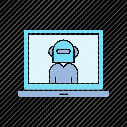 computer, cyborg, robot icon