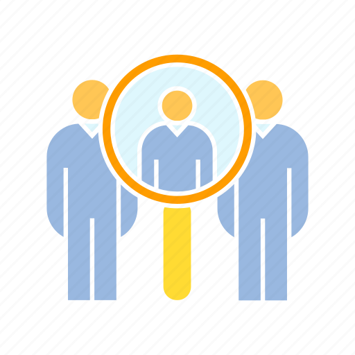 human resource, people, recruitment, search icon