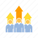 growth, profit, teamwork icon