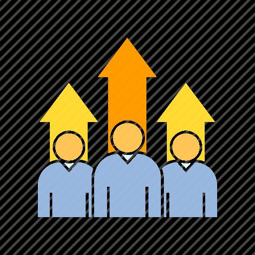 growth, profit, teamwork icon