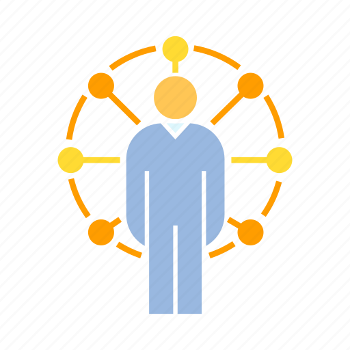 network, people, person icon