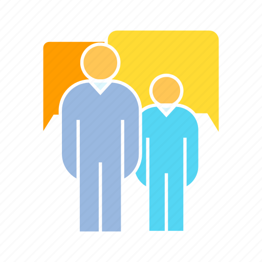 communicate, people, speech bubble icon