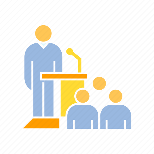 audience, conference, speaker icon