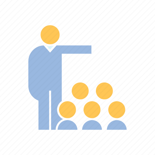 audience, conference, leader icon