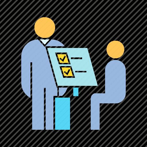 check point, reception, register icon