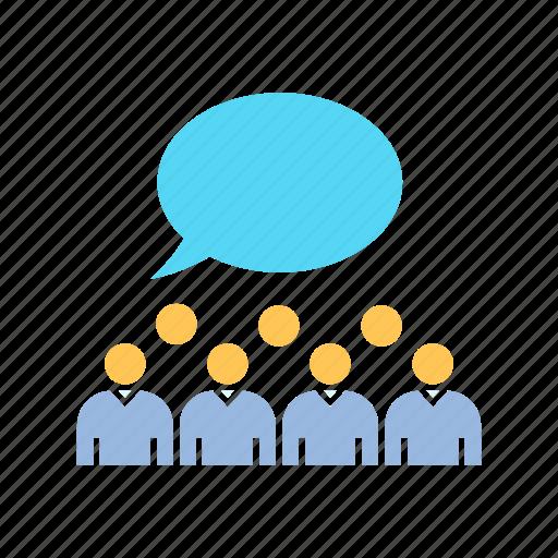 communication, community, crowd, social icon