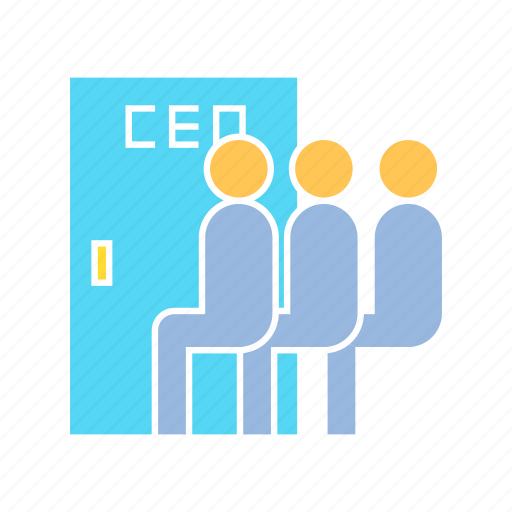 ceo, company, executive, job interview icon
