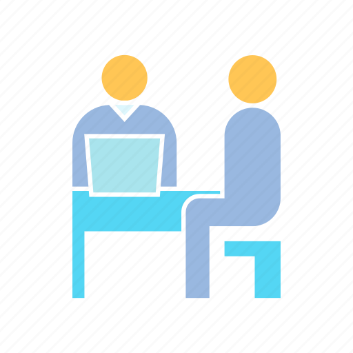 employee, interview, office, work icon