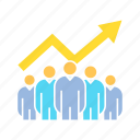 chart, graph, profit, teamwork icon