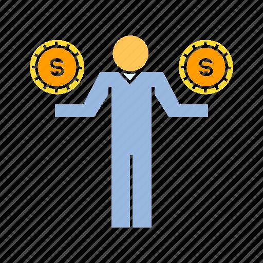 investor, money, person icon