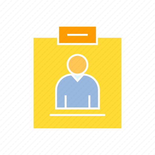 business card, profile icon