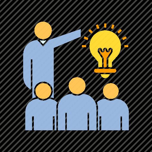 creativity, idea, present icon