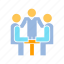 consulting, coworker, discussion icon