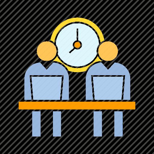 employee, office, work hours, worker icon