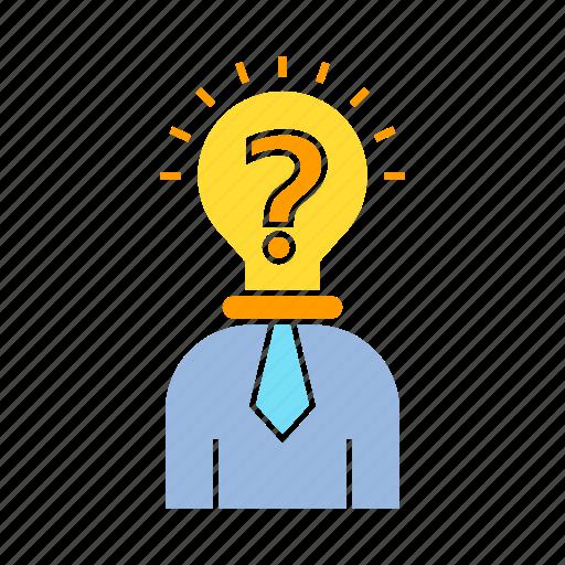 creative, idea, person, problem icon