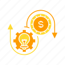 idea, money, system icon