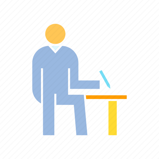 lecture, registration, writing icon
