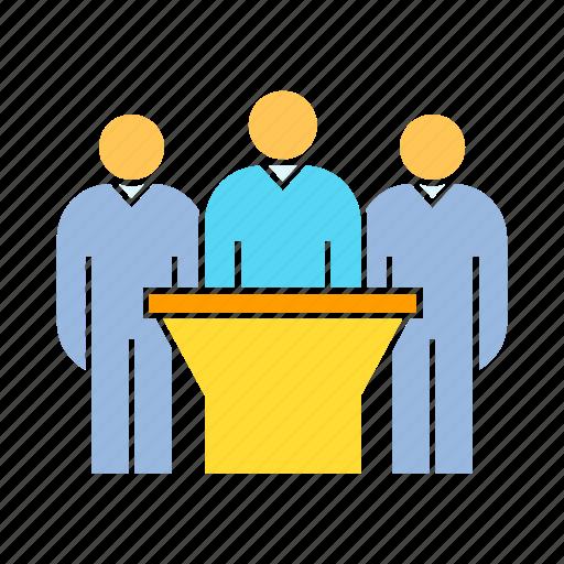 board, corporation, executive, people icon