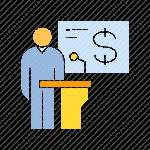 conference, finance, speaker, spokesman icon