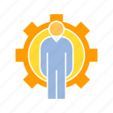 cog, gear, management, people icon