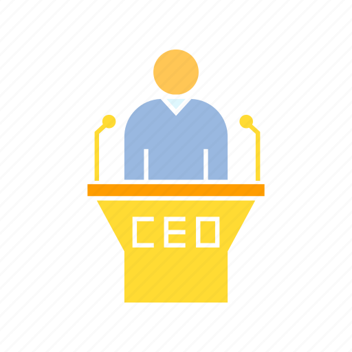 boss, ceo, conference, executive, speaker icon