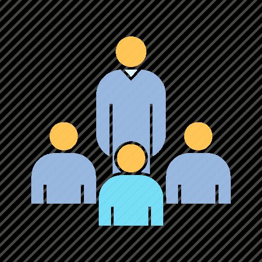 community, leader, people icon