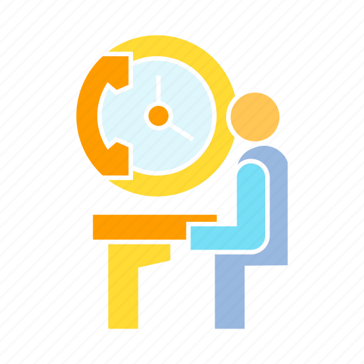 employee, office, working hour icon
