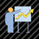 graph, present, profit icon