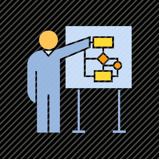 diagram, presentation, strategy icon