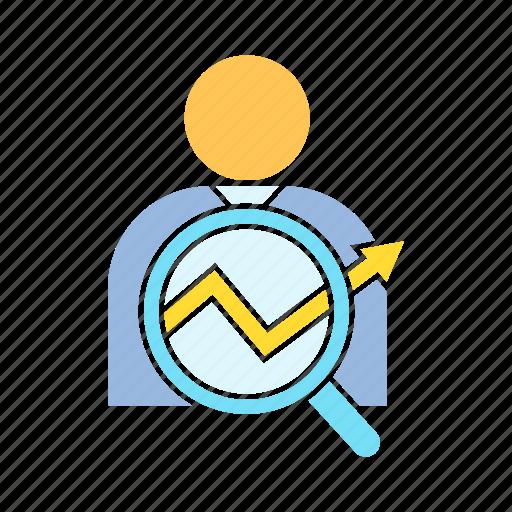 analyst, analytics, data icon