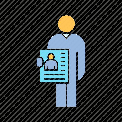 employee, job application, job apply icon