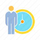 clock, people, time icon