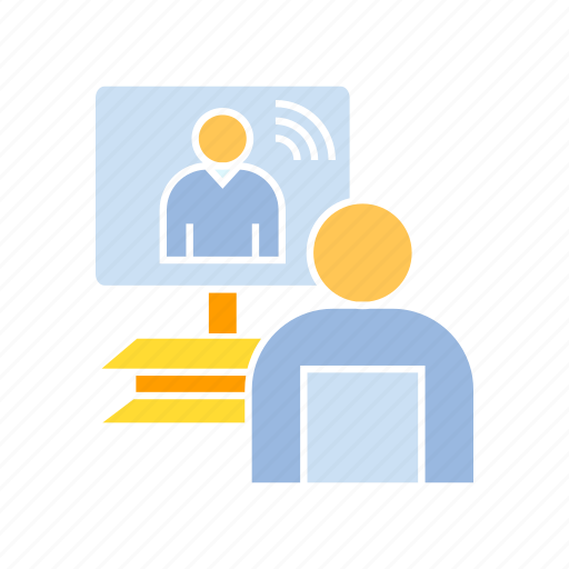 meeting, online meeting, teleconference icon