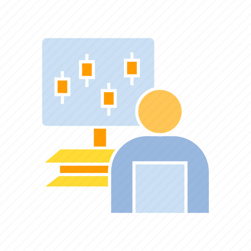 analyst, data, monitoring icon