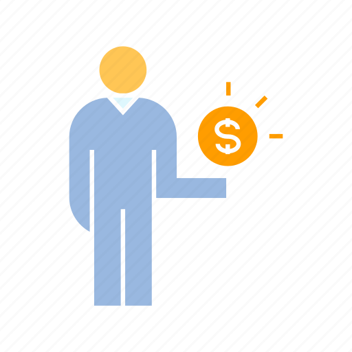 finance, investor, money, person icon