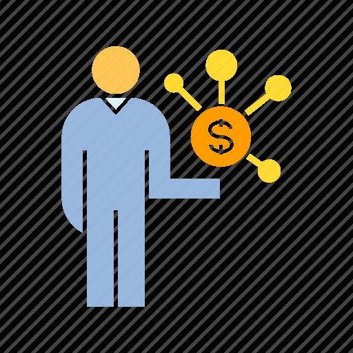 finance, money, people icon