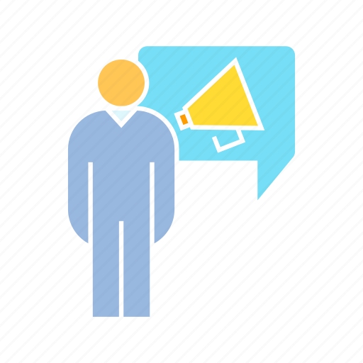 announcer, marketer, megaphone icon