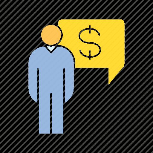 finance, money, person icon
