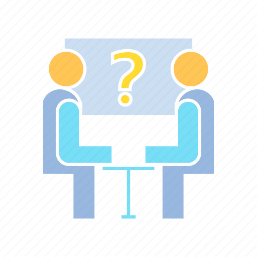 discussion, meeting, problem, question icon