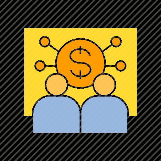 finance, money, monitoring icon