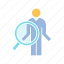 magnifier, recruiting, scan icon