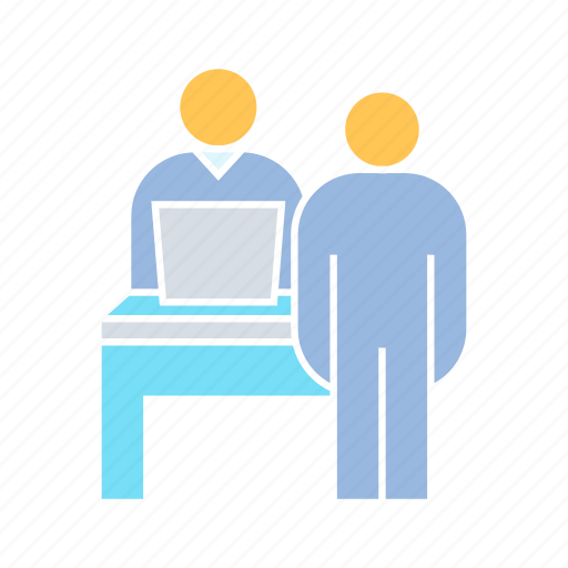 interview, meeting, office icon
