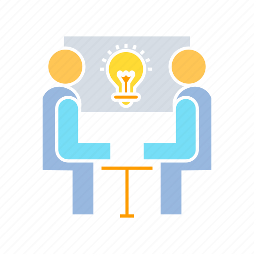 creative, idea, meeting icon