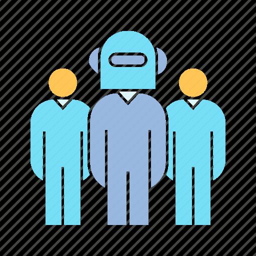 leader, robot, robot worker, teamwork icon