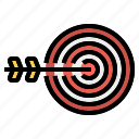 business, development, goal, target icon