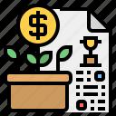 business, certifate, development, investment, investor icon