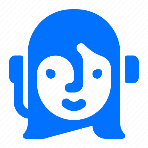 customer, service, woman icon