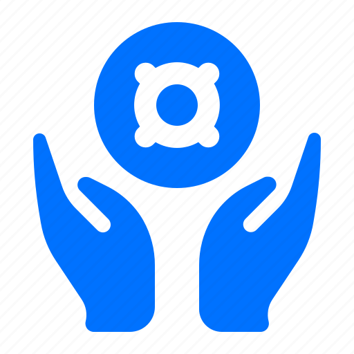 give, hands, target icon